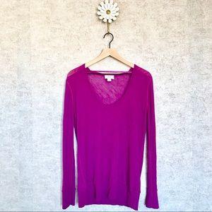 Loft purple lightweight long sleeve top